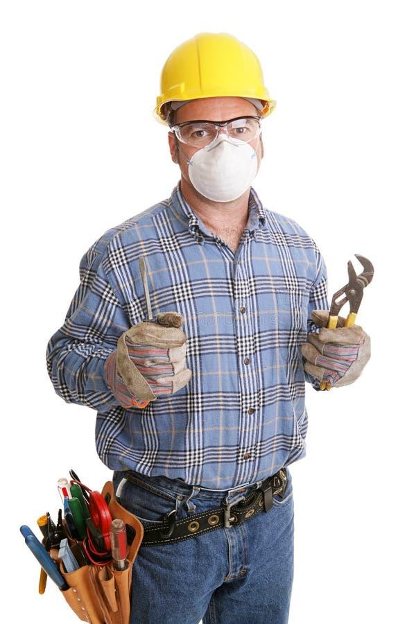 Bauarbeiter-Sicherheit lizenzfreie stockfotos
