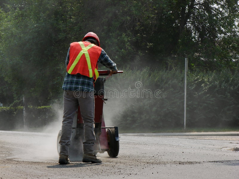 Bauarbeiter staubig lizenzfreie stockfotografie