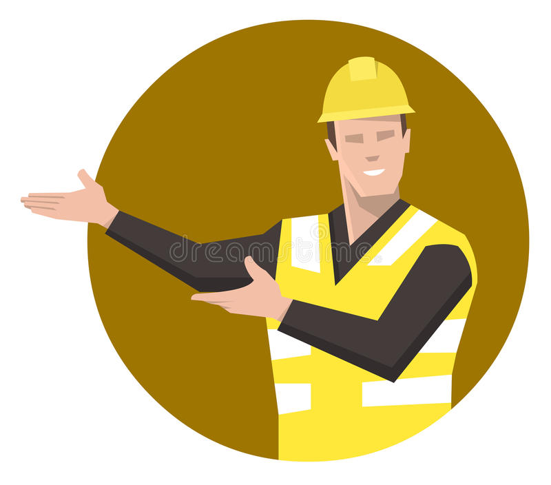 Bauarbeiterdarstellen Flache Vektorillustration lizenzfreie abbildung