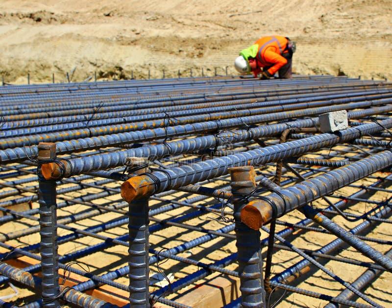 Bauarbeitereinstellung Rebar stockfotografie
