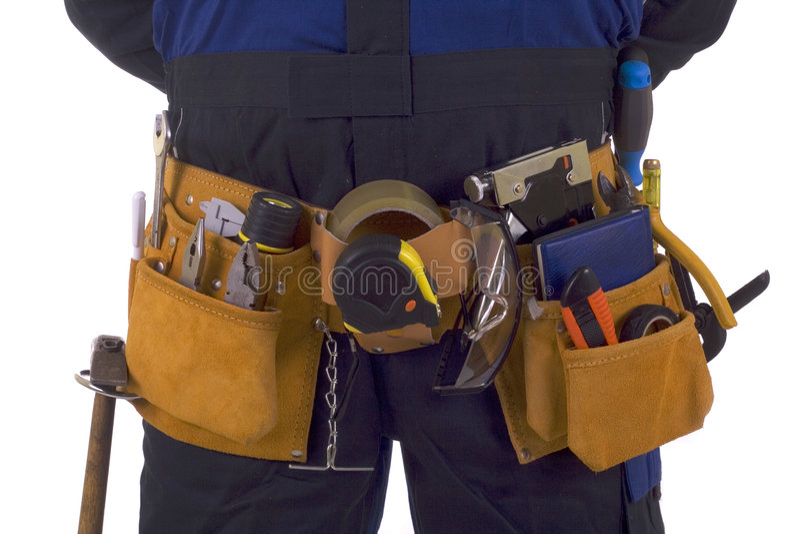 Bauarbeiterhilfsmittelgurt lizenzfreies stockbild