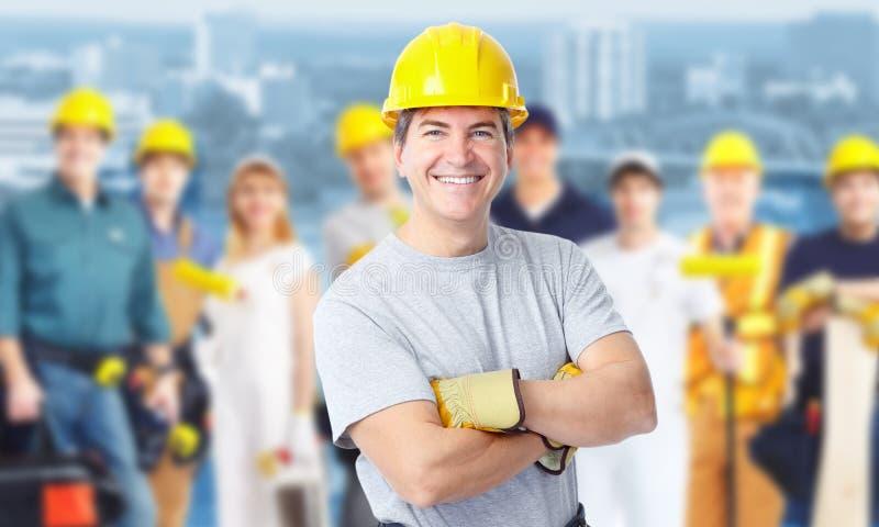 Bauarbeitermann. lizenzfreie stockfotos