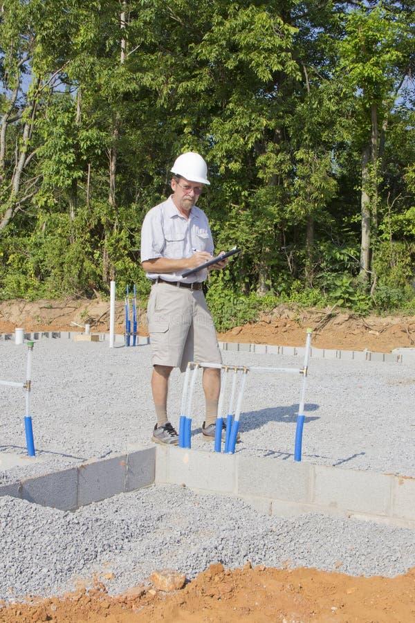 Bauaufsichtsbeamter lizenzfreies stockbild