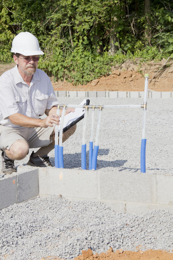 Bauaufsichtsbeamter lizenzfreie stockbilder