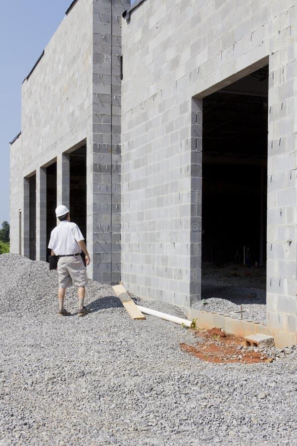 Bauaufsichtsbeamter stockfotografie