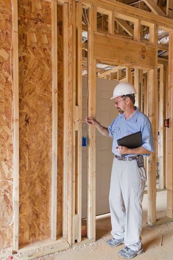 Bauaufsichtsbeamter stockbild