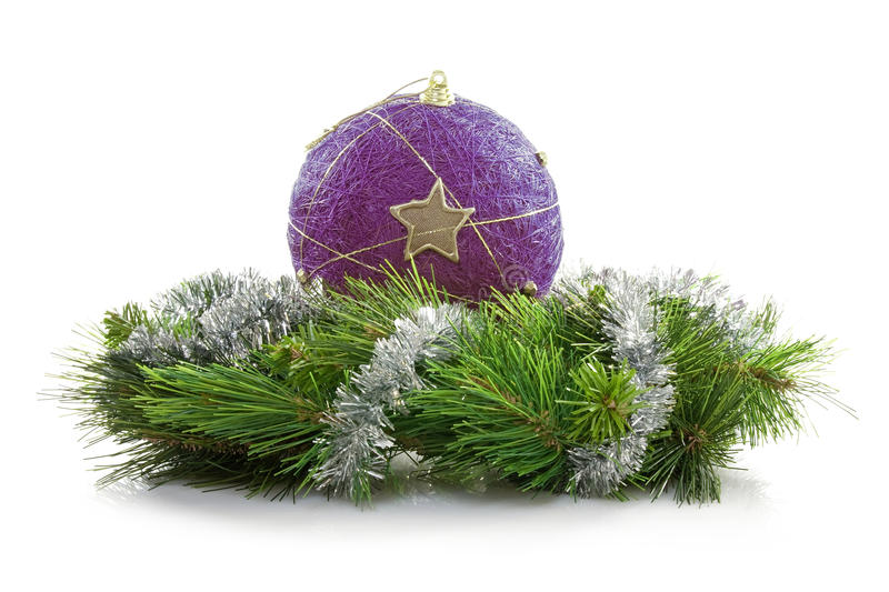 Download Bauble And Artificial Wreath Stock Photography - Image: 22552722