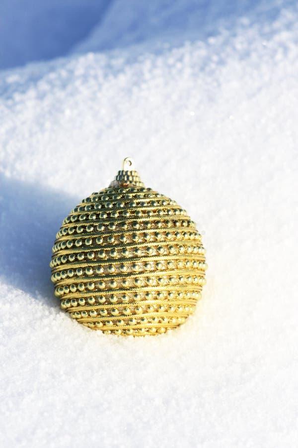 bauble bożych narodzeń śnieg fotografia stock