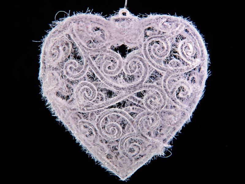 bauble bożych narodzeń mroźny serce kształtujący zdjęcia royalty free