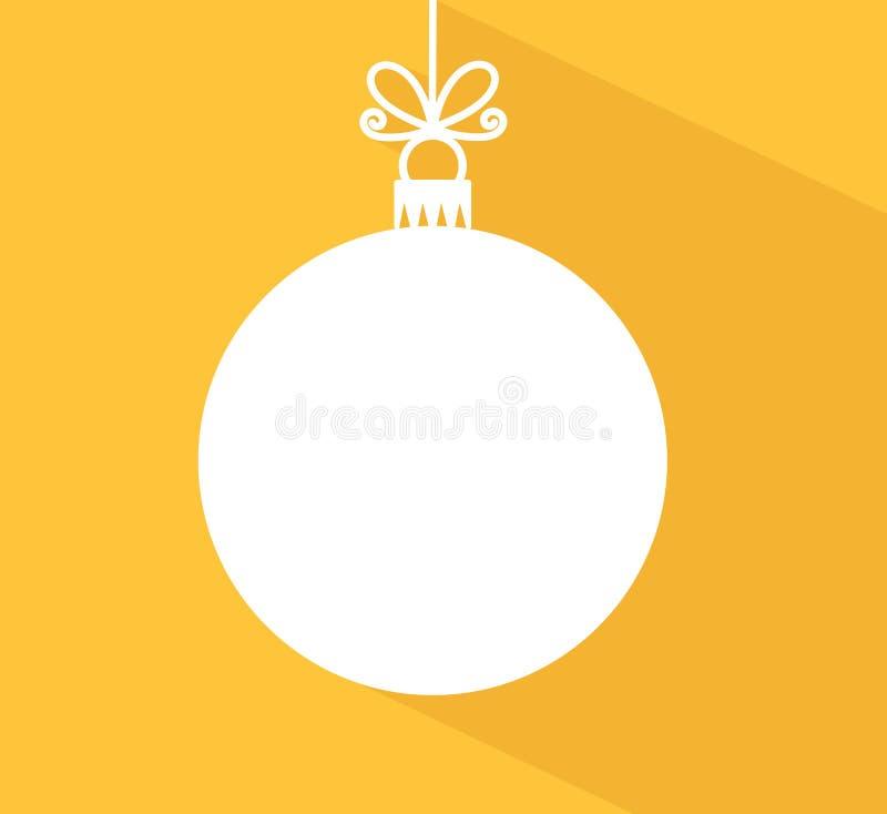 Bauble di Natale con l'ombra lunga royalty illustrazione gratis