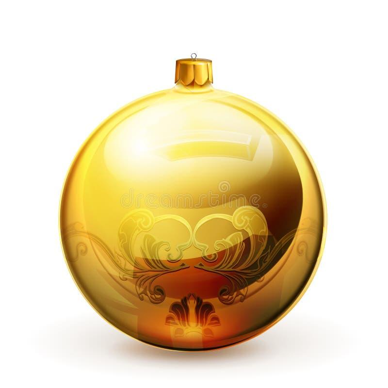 Bauble do Natal ilustração stock