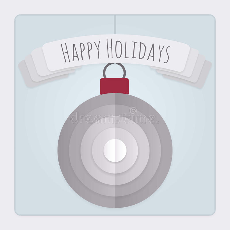 Bauble Holidays Card stock illustration