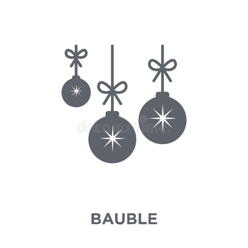 Bauble ikona od Bożenarodzeniowej kolekcji ilustracji