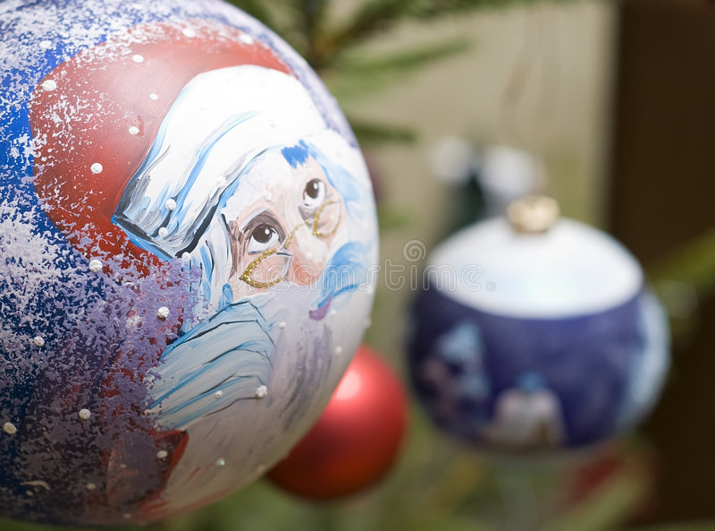 Bauble Santa stock photo