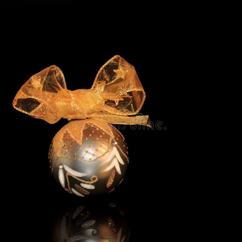 Bauble Sparkling do Natal fotografia de stock
