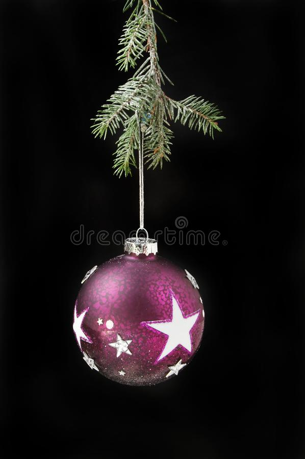 Download Bauble With Stars Against Black Stock Image - Image of background, ball: 105387419