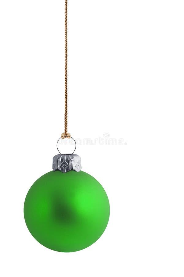 Bauble verde liso do Natal fotos de stock