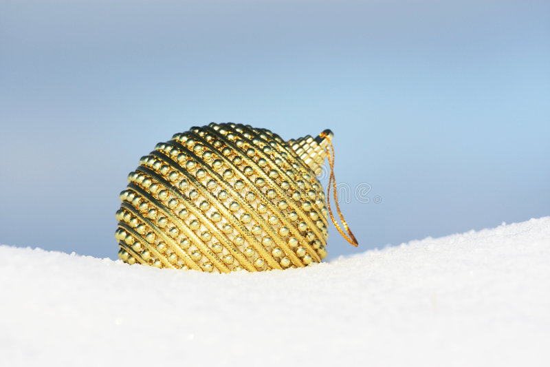 bauble złoty zdjęcia stock