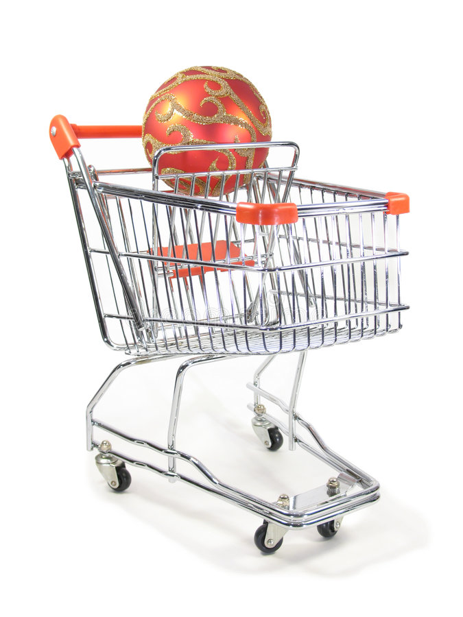 bauble zakupy swiat cart obrazy stock