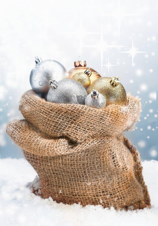 Baubles рождества зимы стоковые изображения