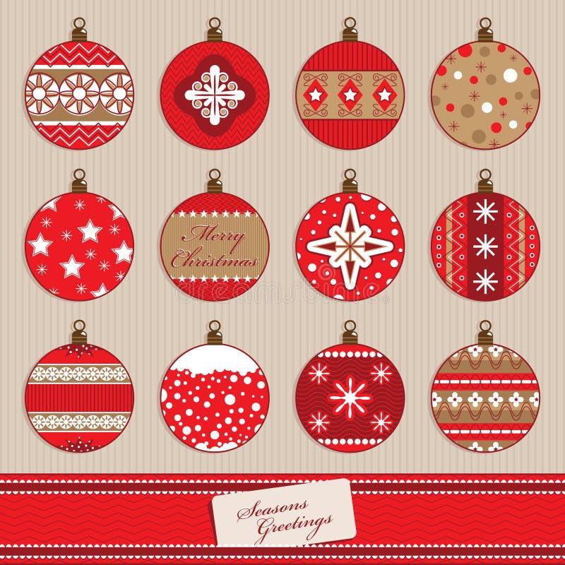 Baubles рождества бесплатная иллюстрация
