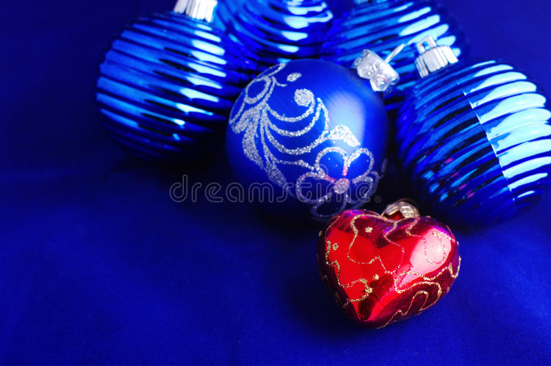 Baubles azuis do Natal foto de stock royalty free