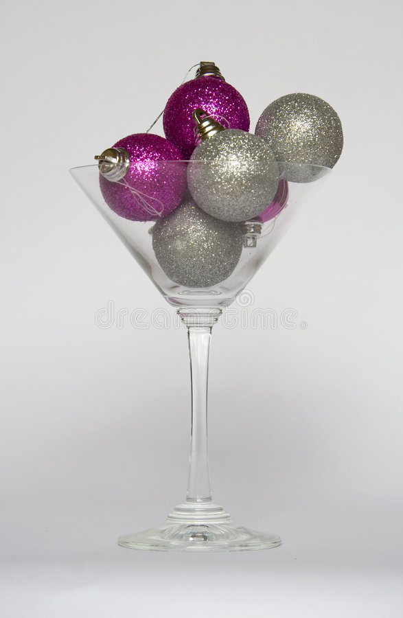 Download Baubles In A Cocktail Glass Stock Images - Image: 3973964