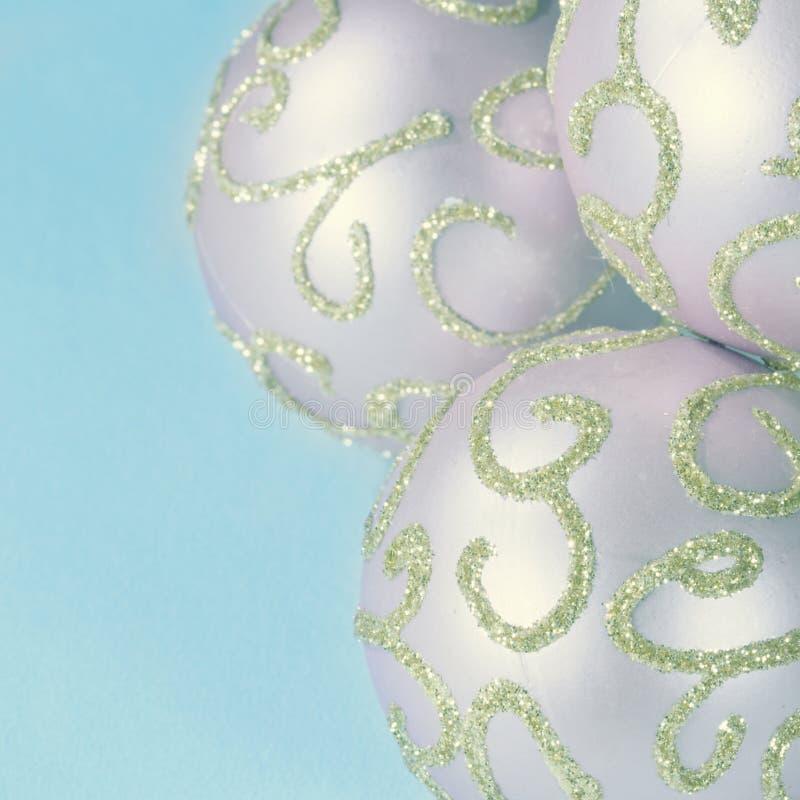 Baubles cor-de-rosa do Natal imagem de stock royalty free