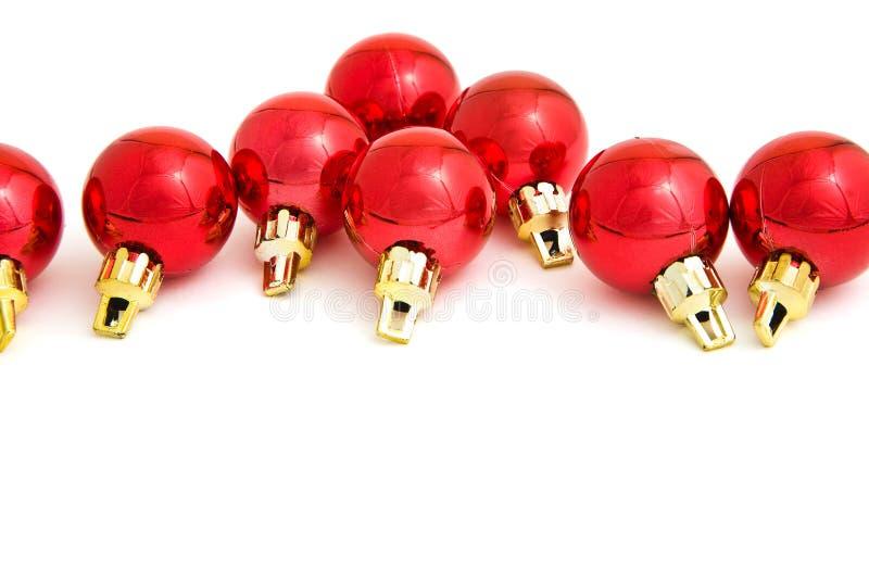 baubles czerwoni obraz stock