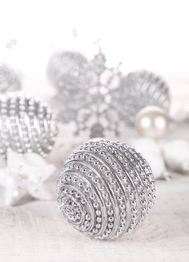 Baubles de prata foto de stock royalty free
