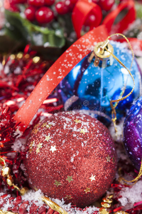 Baubles decoration royalty free stock photography