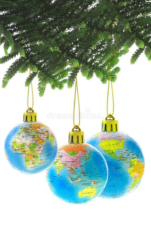 Baubles do globo do Natal fotografia de stock royalty free
