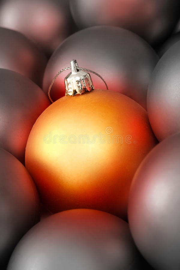 Baubles do Natal fotos de stock
