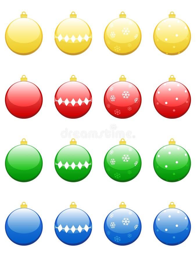 Baubles do Natal ilustração stock