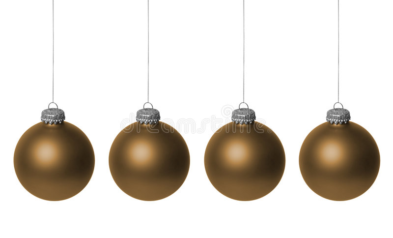 Baubles do Natal do ouro foto de stock royalty free