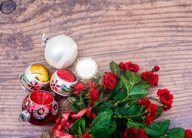Baubles and Roses stock images