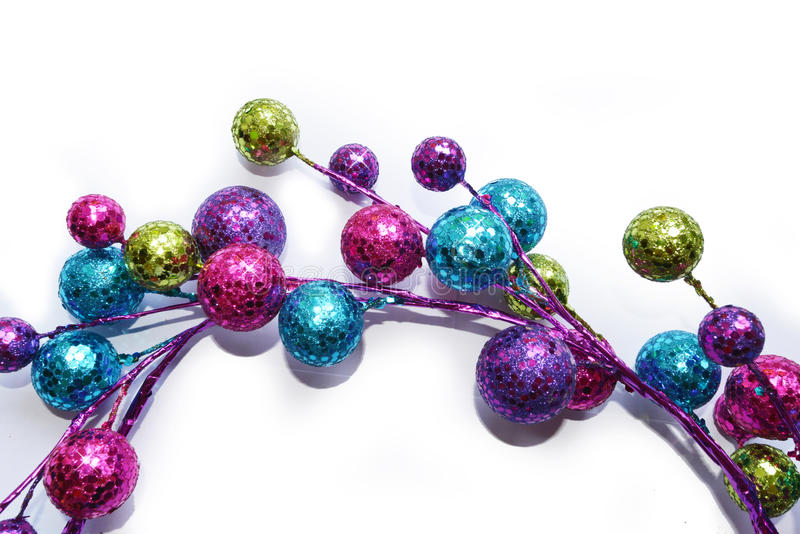 Baubles in semicircle royalty free stock photo