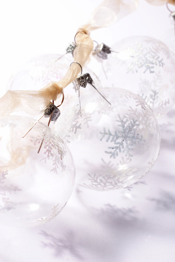 Baubles transparentes fotos de stock royalty free