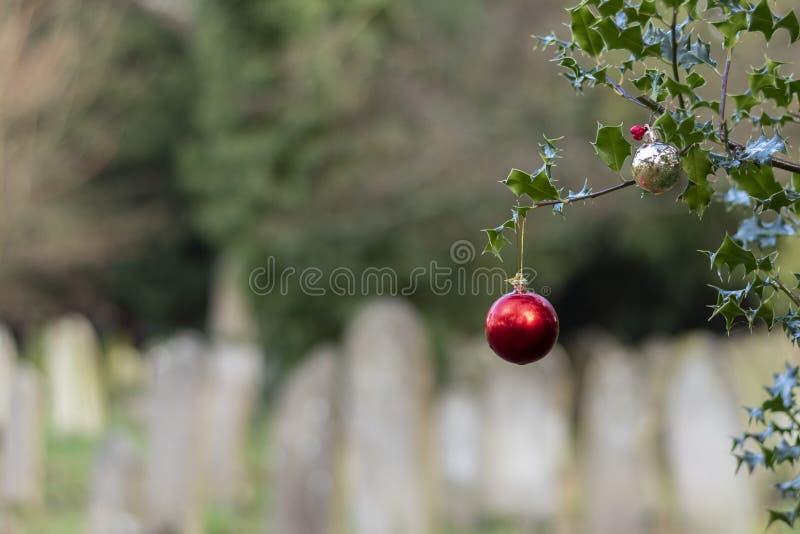 Baudias de Navidad en el viejo cementerio del sur de ampton imagenes de archivo