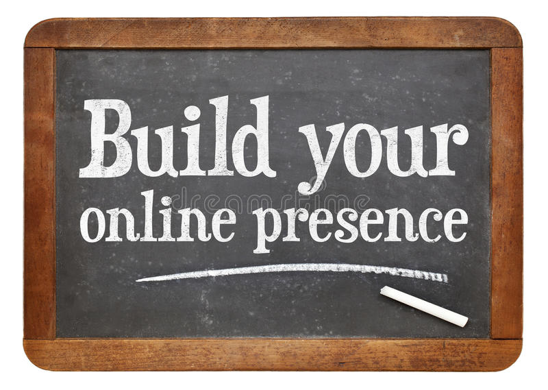 Bauen Sie Ihre on-line-Anwesenheit auf lizenzfreie stockbilder