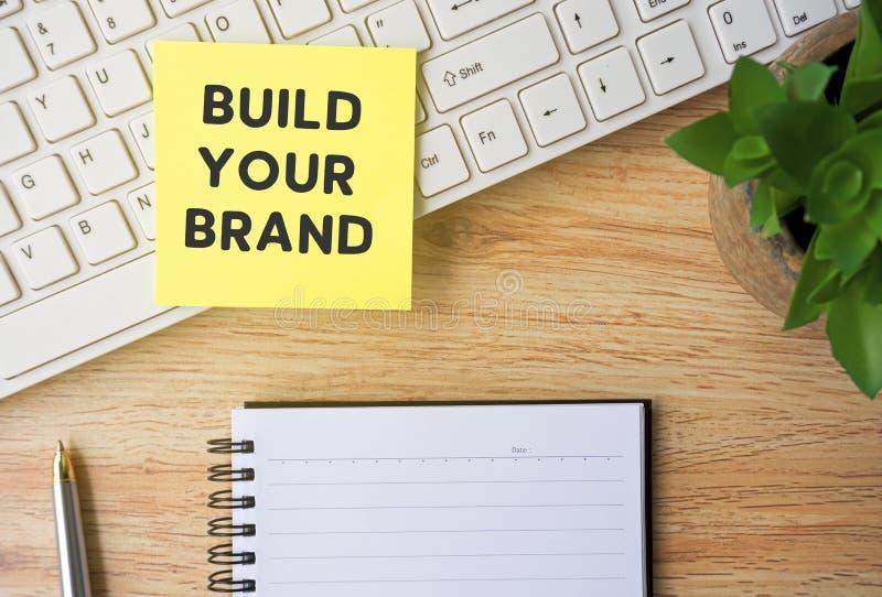 Bauen Sie Ihre Marke auf lizenzfreies stockfoto