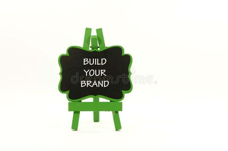 Bauen Sie Ihre Marke auf lizenzfreie stockfotos