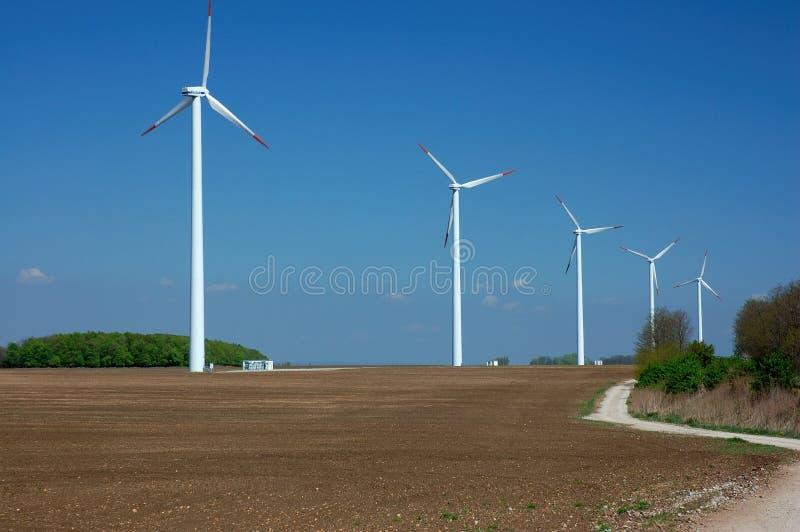 Bauernhof der Windmühlen lizenzfreies stockfoto