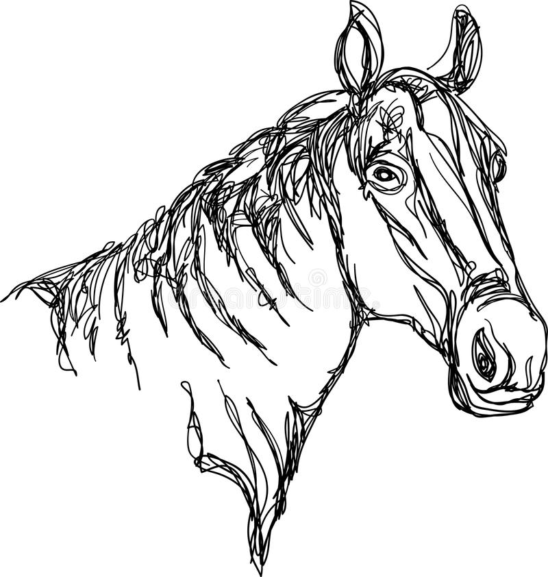 Bauernhof des Pferd Head vektor abbildung