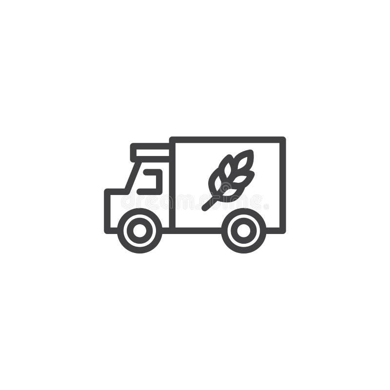 Bauernhof-LKW-Linie Ikone vektor abbildung