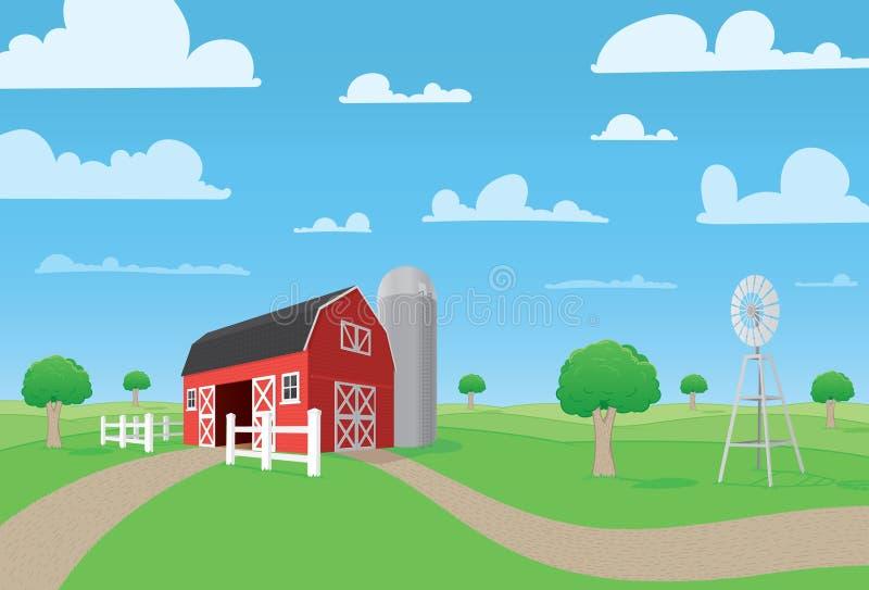 Bauernhof-Szene stock abbildung