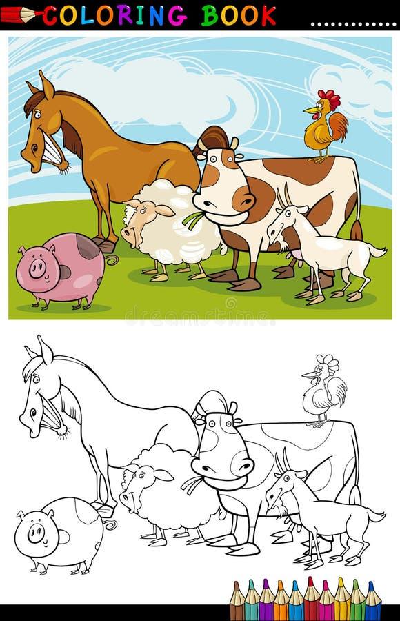 Bauernhof-und Viehbestand-Tiere Für Farbton Lizenzfreie Stockfotografie
