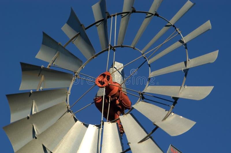 Bauernhof-Windmühle, Abschluss oben stockfoto