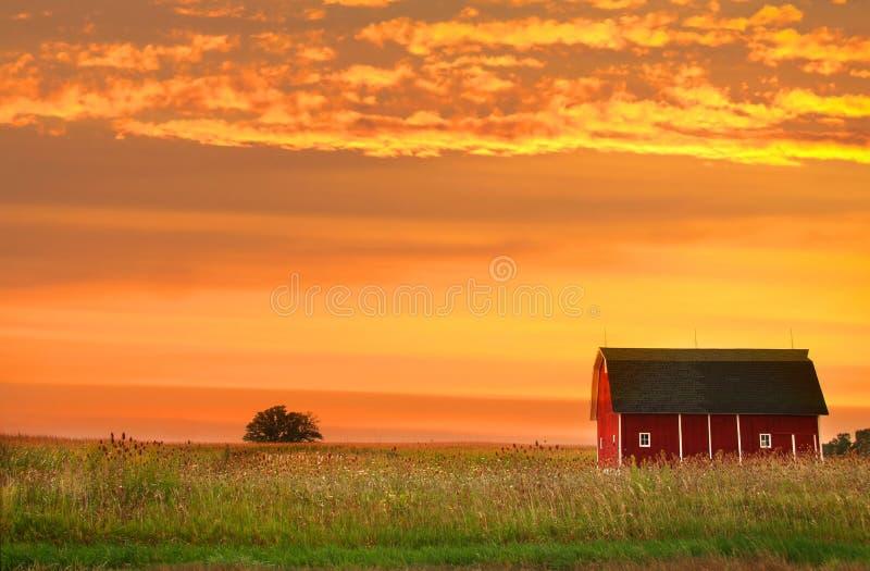Bauernhoflandschaft lizenzfreies stockfoto