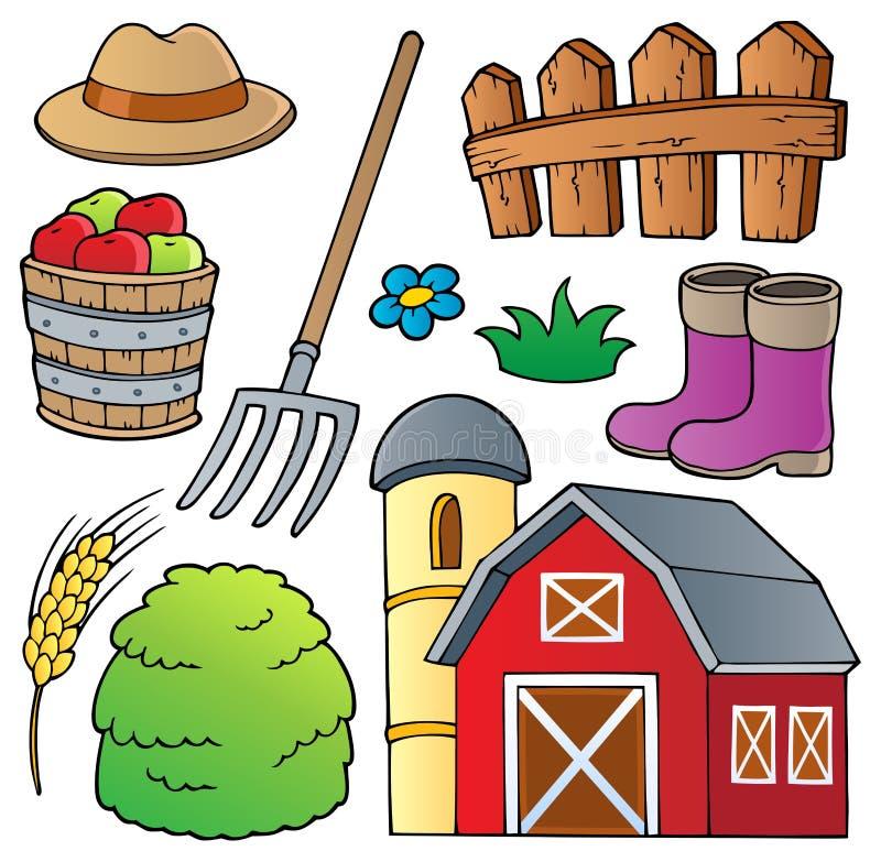 Bauernhofthemaansammlung 1 lizenzfreie abbildung